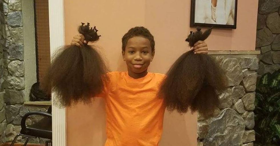 7-Year-Old Grows Out His Hair For Two Years To Help Kids With Cancer