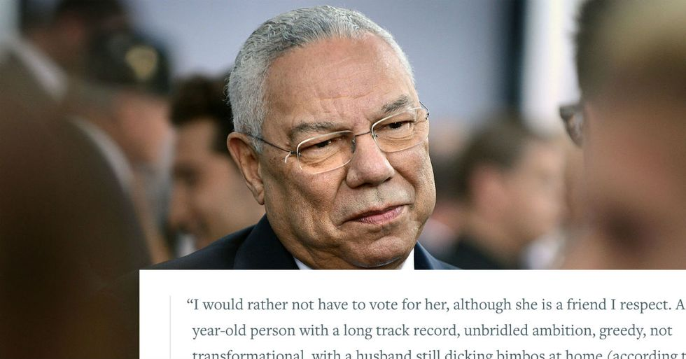 Colin Powell Calls Trump 'National Disgrace'