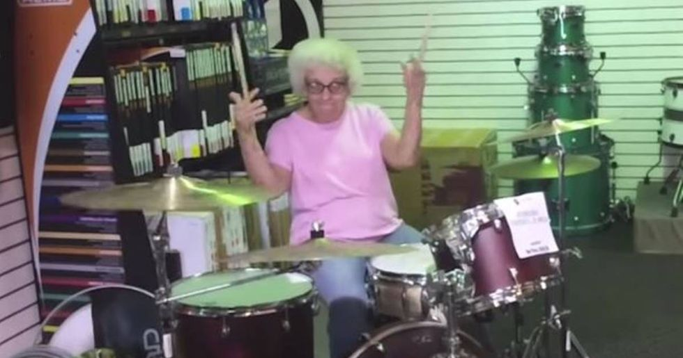 This Video Of A Drumming Senior Citizen Has Been Seen Nearly 7.5 Million Times