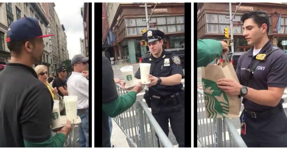 One Man's Small Act Of Kindness For NYC Cops Is Going Viral