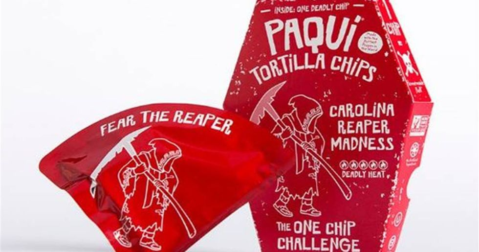 Carolina Reaper Madness Chips Are So Hot They're Only Sold One At A Time