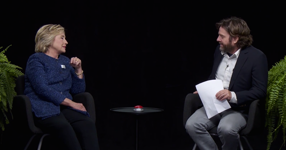 "Hillary Clinton Proves She Has A Funny Side On ""Between Two Ferns"""