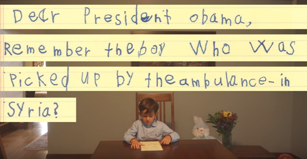Six-Year-Old Boy Asks Obama If He Can Adopt a Syrian Refugee