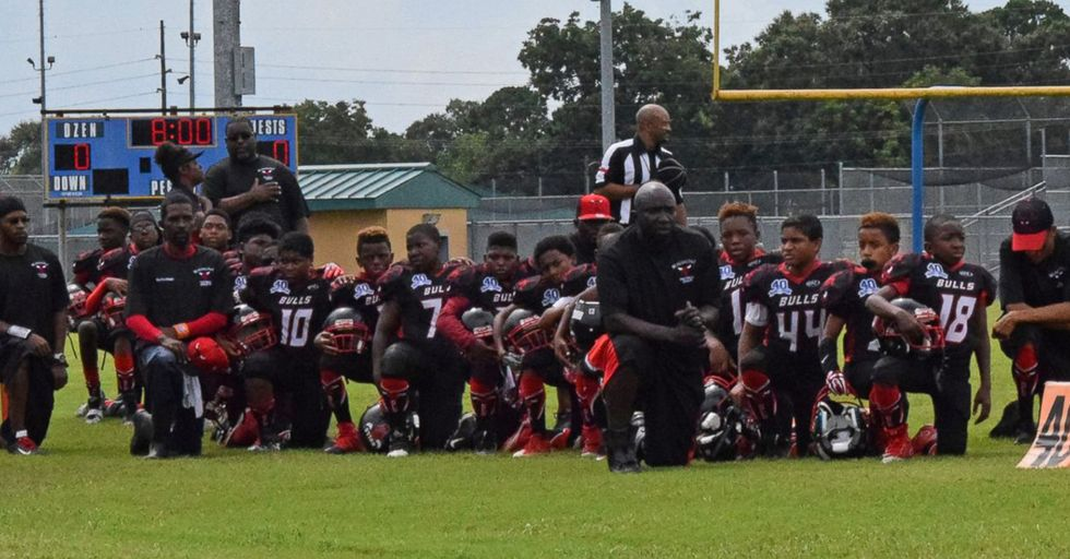 Kids Football Team Kneeling During The National Anthem Has Received Multiple Death Threats