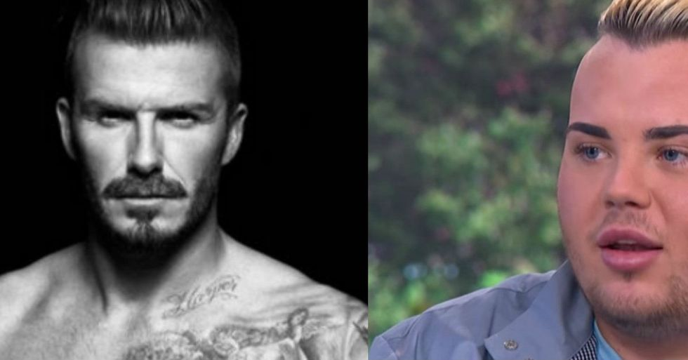 People Are Ridiculing Fan Who Spent $26,000 To Look Like David Beckham, But It Actually Kind Of Worked