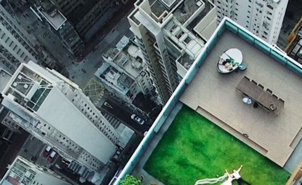Drone may have just accidentally captured the best wedding photo of all time.