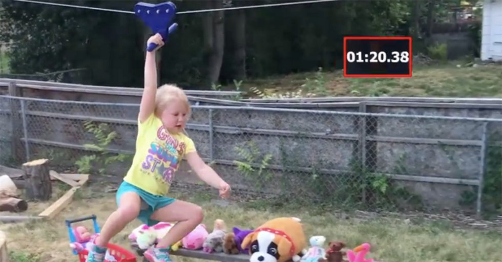 This Dad Built His Young Daughter An 'American Ninja Warrior' Course In Their Backyard