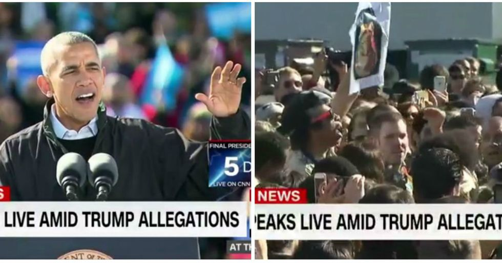 Obama Masterfully Silences Hillary Clinton Heckler At Rally