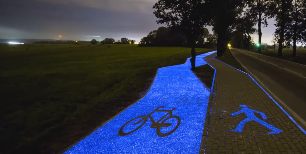 You'll Definitely Want To Cruise Down This Stunning Glow-In-The-Dark Bike Path