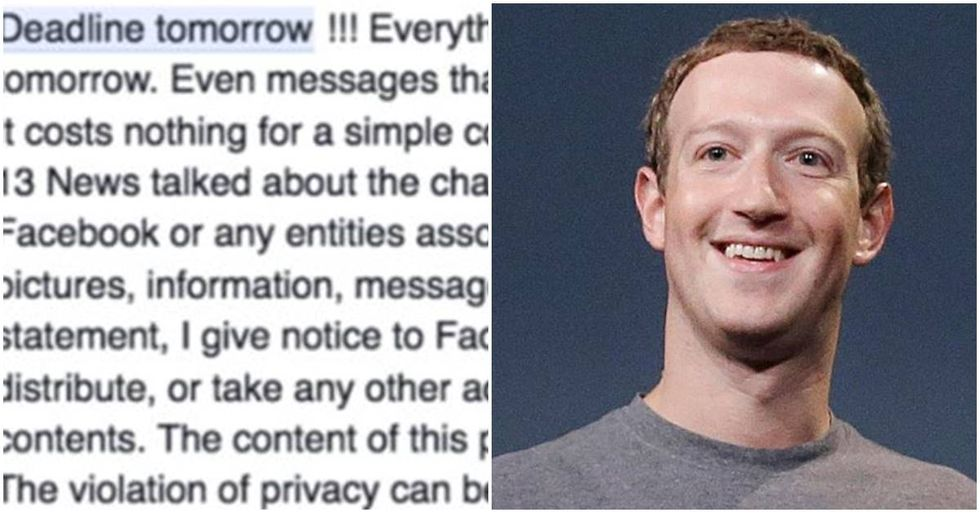Facebook's 'Privacy Warning' Hoax Is Going Viral Again