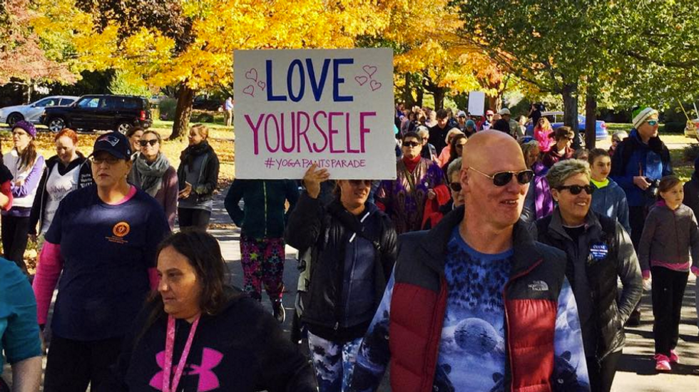 Man Tells Older Women To Stop Wearing Yoga Pants, Sparking Yoga Pants March To His House
