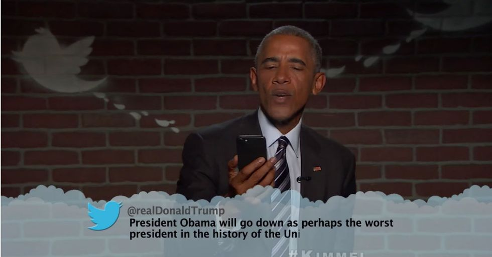 President Obama Reads Mean Tweets, Including From Trump Himself