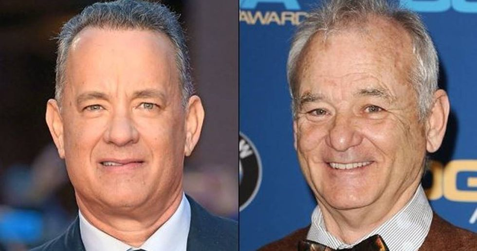 People Are Arguing Whether This Is A Picture Of Tom Hanks or Bill Murray