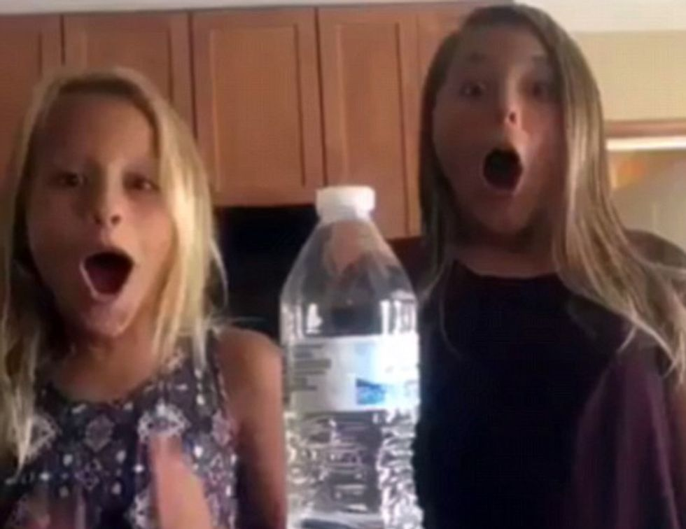 Random Act Of Sport: Girls Accidentally Pull Off Insane Water Bottle Flip