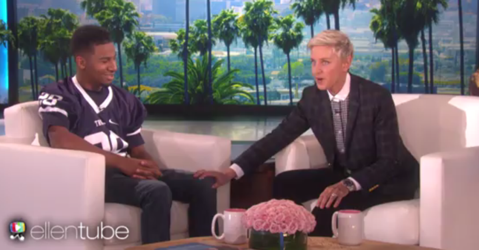 Deaf And Blind Football Player Appears On 'Ellen' To Learn He's Going To Meet His Hero, Drew Brees