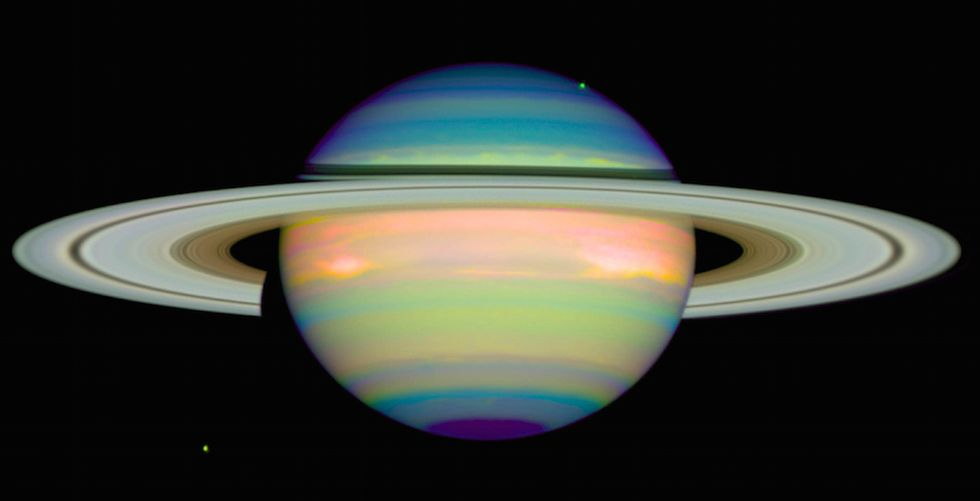 Saturn's North Pole Just Changed Color And Nobody Knows Why
