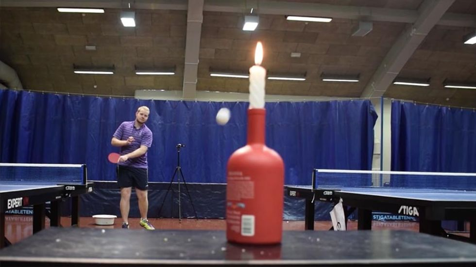 Shovels, Cups, And Frying Pans Are Fair Game In Absurd Ping Pong Trick Shot Video