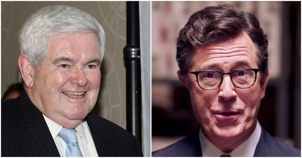 Stephen Colbert Has 'The Talk' With Newt Gingrich
