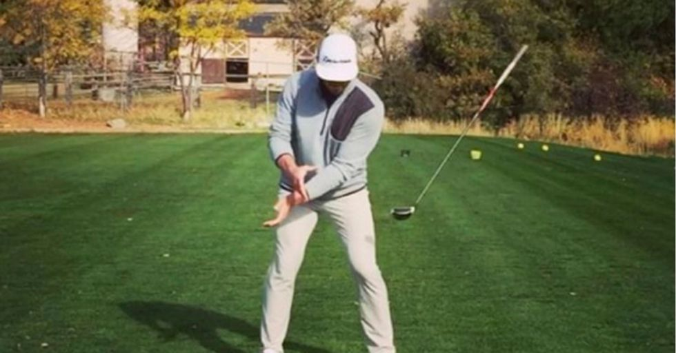 This Golf Trick Shot Is So Smooth, People Think It's Been Faked