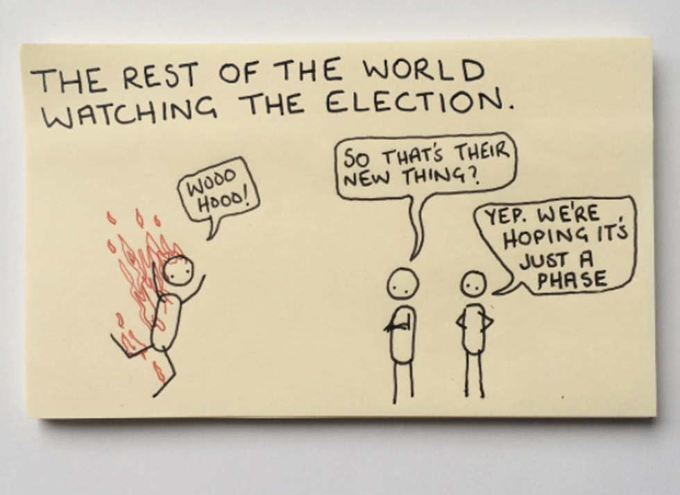 This Artist's Post-it Notes Brilliantly Explain The Modern Human Condition