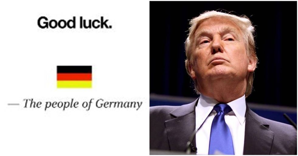 Tweet From 'The People Of Germany' Warns Americans About Trump