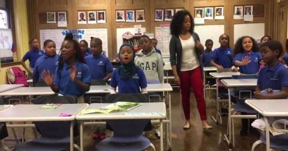 Third Grade Teacher's Empowering Lesson To 'Push through' During Troubled Times