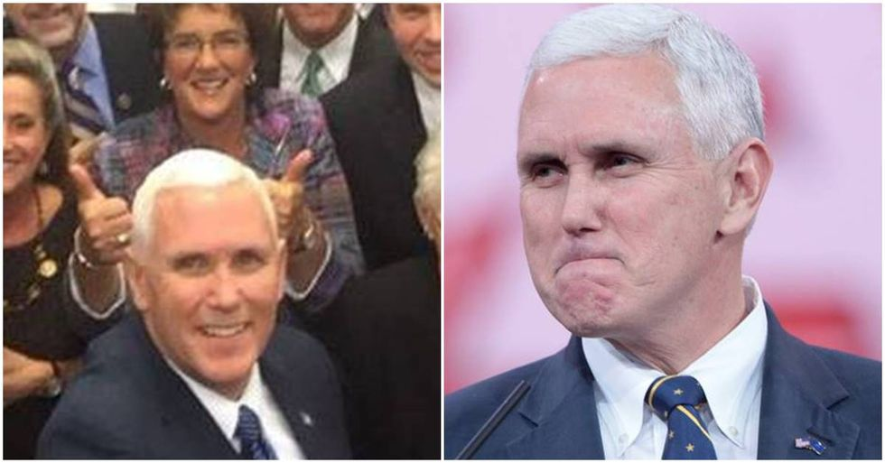 Mike Pence's Selfie Shows The Stunning Lack Of Diversity In The GOP
