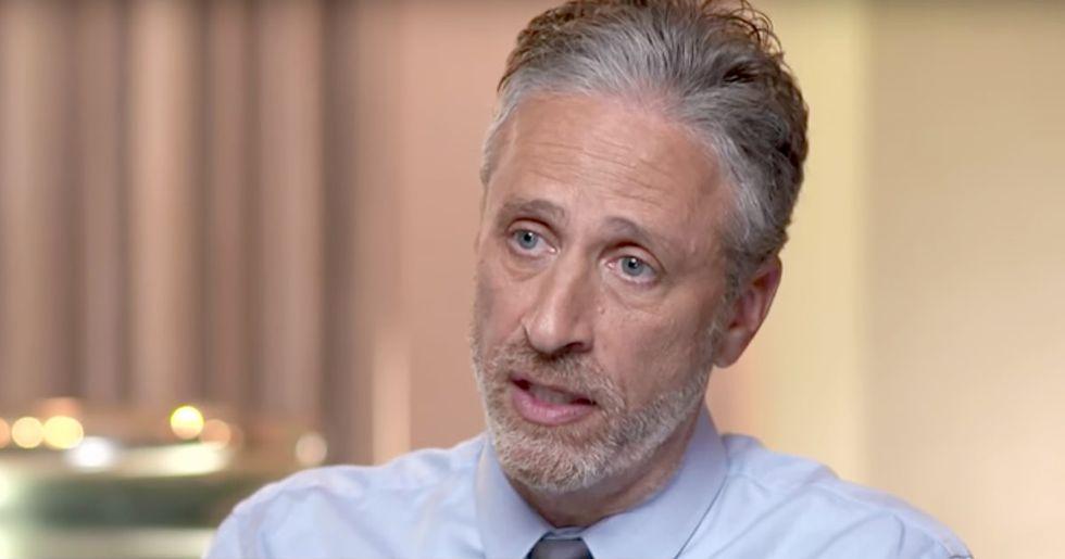 Jon Stewart Would Ask Donald Trump 'What Makes Amerca Great?'