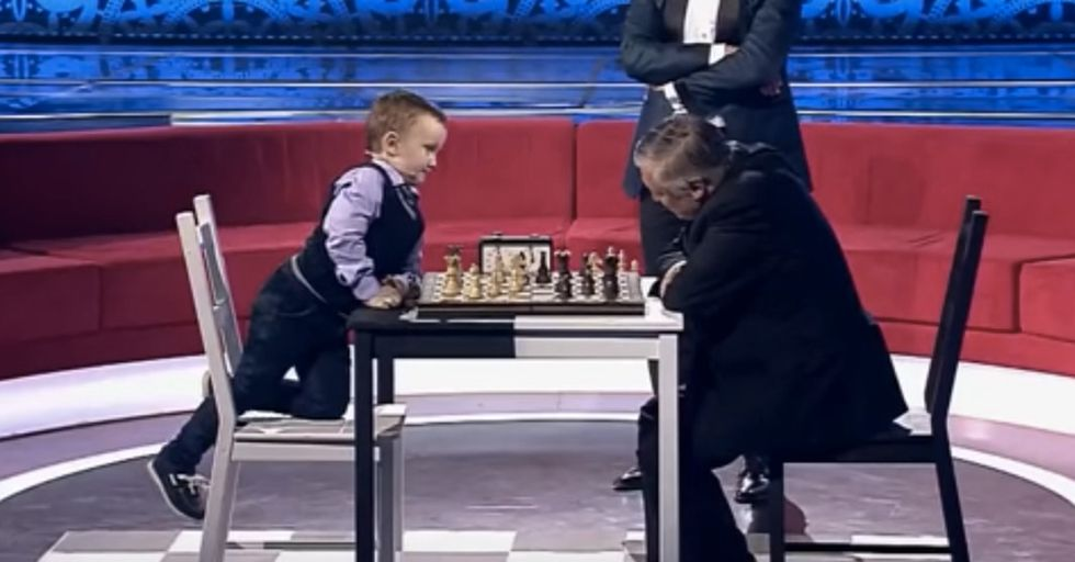 A Chess World Champion Squares Off Against A 3-Year-Old Prodigy And Feelings Were Hurt