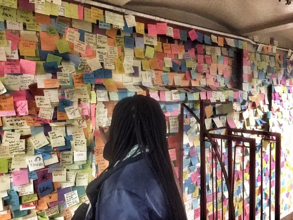 This Subway Station Is Home To Thousands Of Hopeful Post-Trump Post-it Notes
