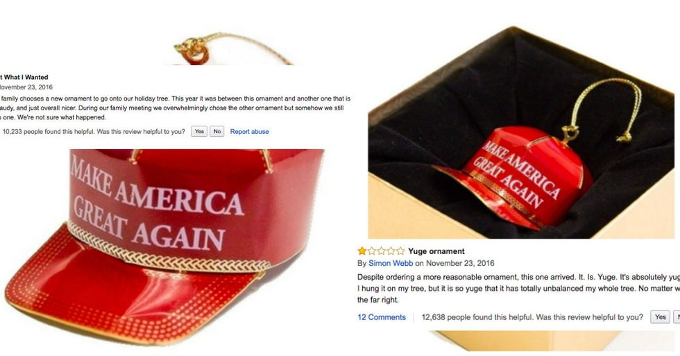 Trump Christmas Tree Ornament Overrun By Thousands Of Hilarious Fake Amazon Reviews