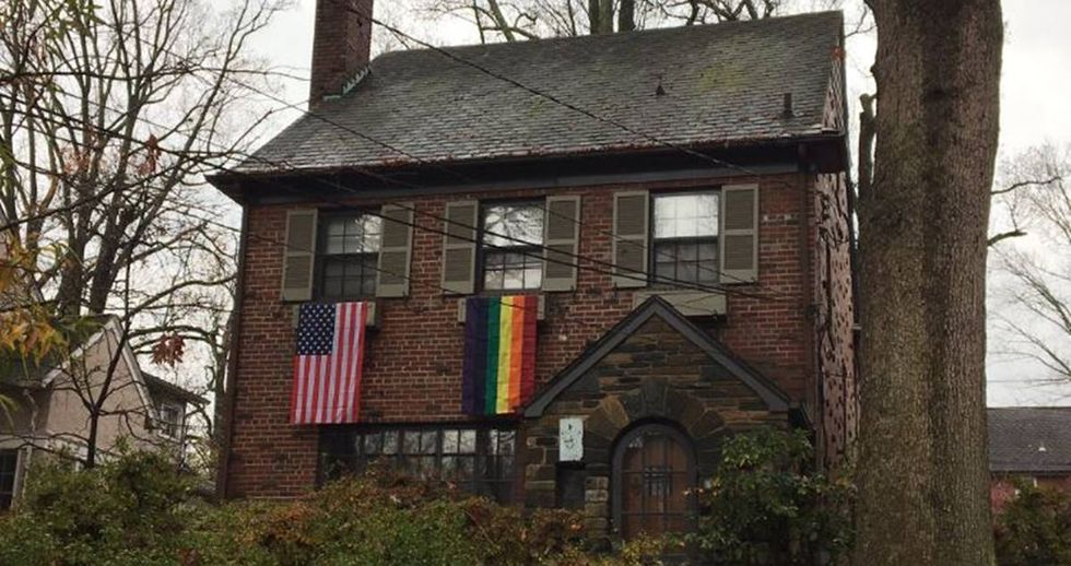 Mike Pence's New D.C. Neighbors Greet Him By Hanging Gay Pride Flags