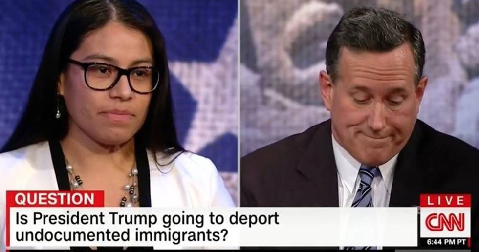 Rick Santorum Tells A Dreamer To Leave The Country On CNN
