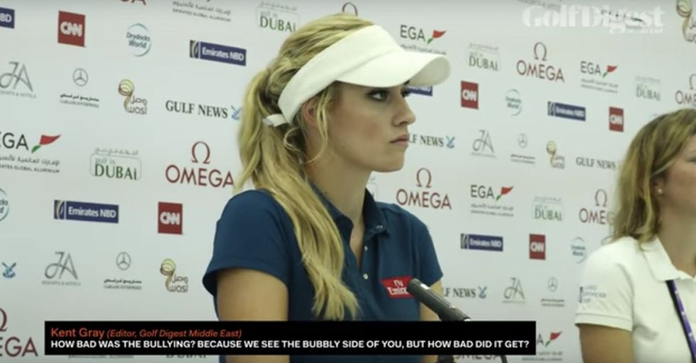 A Pro Golfer Was Asked About Cyberbullying And Responded With Eye-Opening Insight