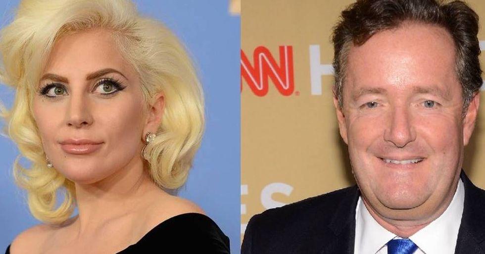 Lady Gaga Challenges Piers Morgan's PTSD Tweet
