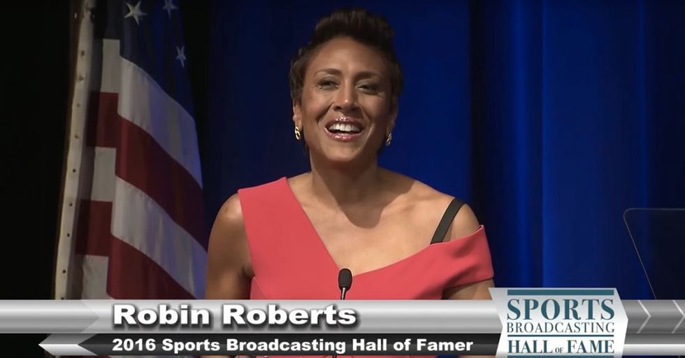 Watch Robin Roberts Share An Inspiring, Hopeful Message With Her Hall Of Fame Speech