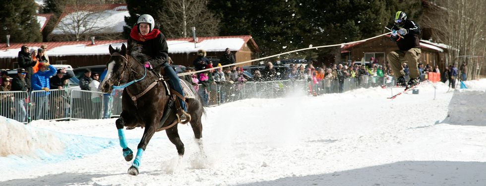 What Happens When You Combine Skis And Horses? Teenage Badassery