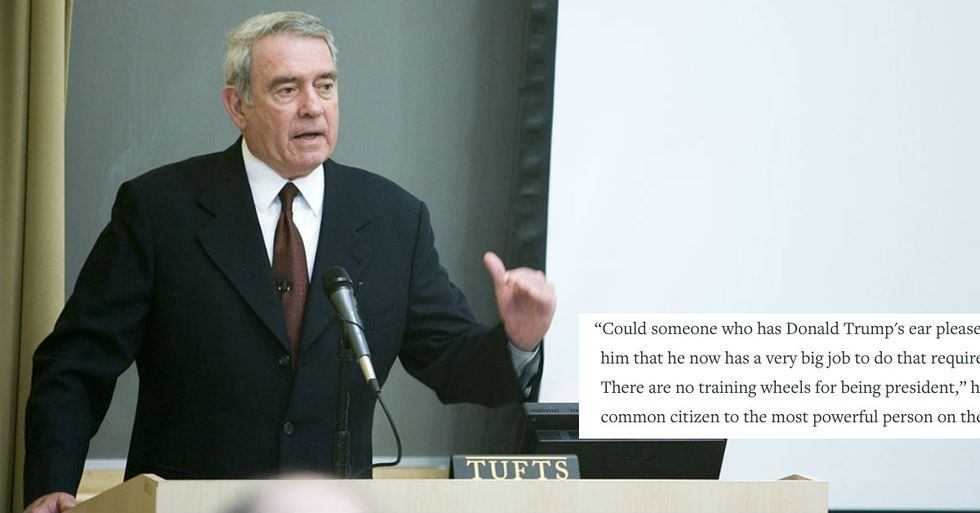 Dan Rather's Passionate Plea for Someone to Take Trump's Twitter Away