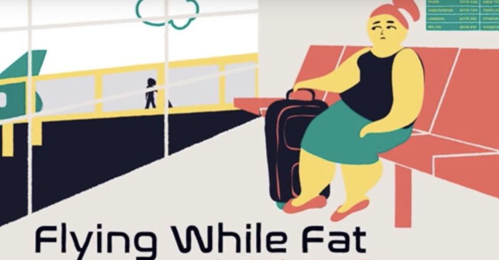 'Flying While Fat': An Animated Video Showing What Overweight People Encounter While Traveling