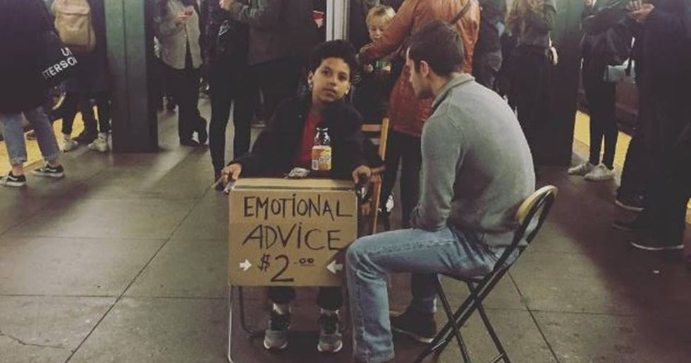 11 Year Old Gives Two-Dollar Therapy Sessions In The New York City Subway