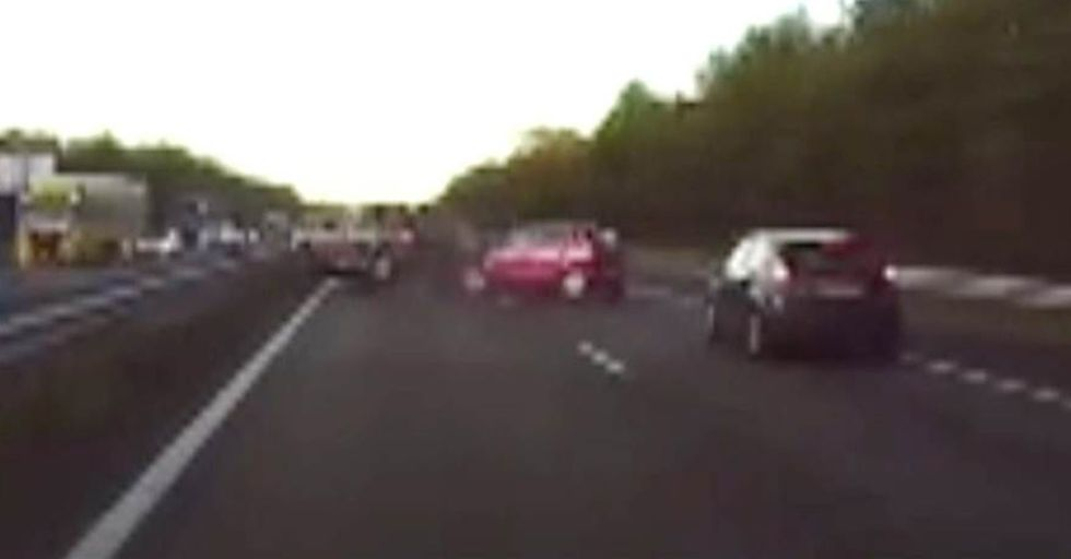 See Tesla's 'Autopilot' In Action As The Car Predicts A Crash, Then Brakes To Avoid It