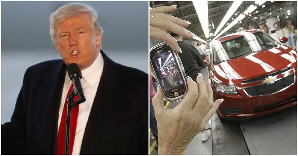 Trump Incorrectly Scolds General Motors On Twitter