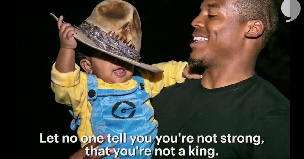 Watch Cam Newton Read A Very Moving Poem To His 1-Year-Old Son, Chosen