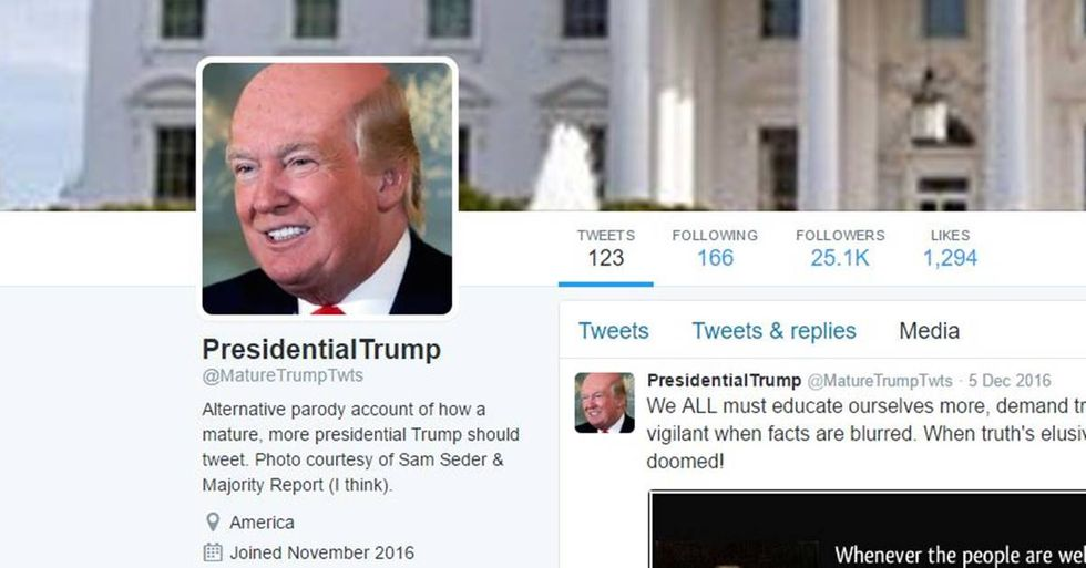 Twitter Parody Account Shows What A Grown-Up Trump Would Sound Like