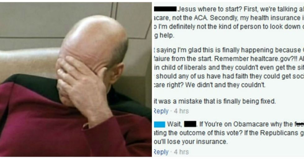 The Way This Emotional Obamacare Facebook Debate Abruptly Ends Is Almost Too Good