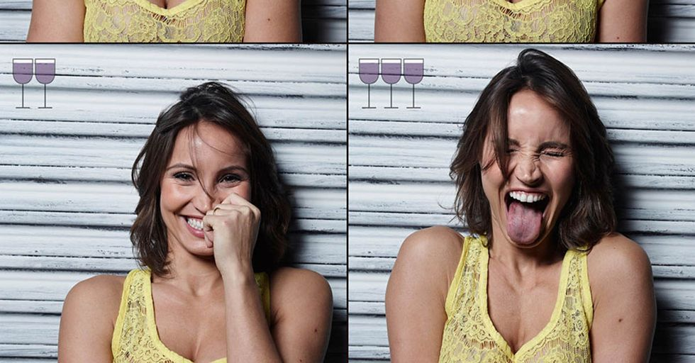 These Portraits Show People's Change In Mood And Appearance After 1, 2, And 3 Glasses Of Wine