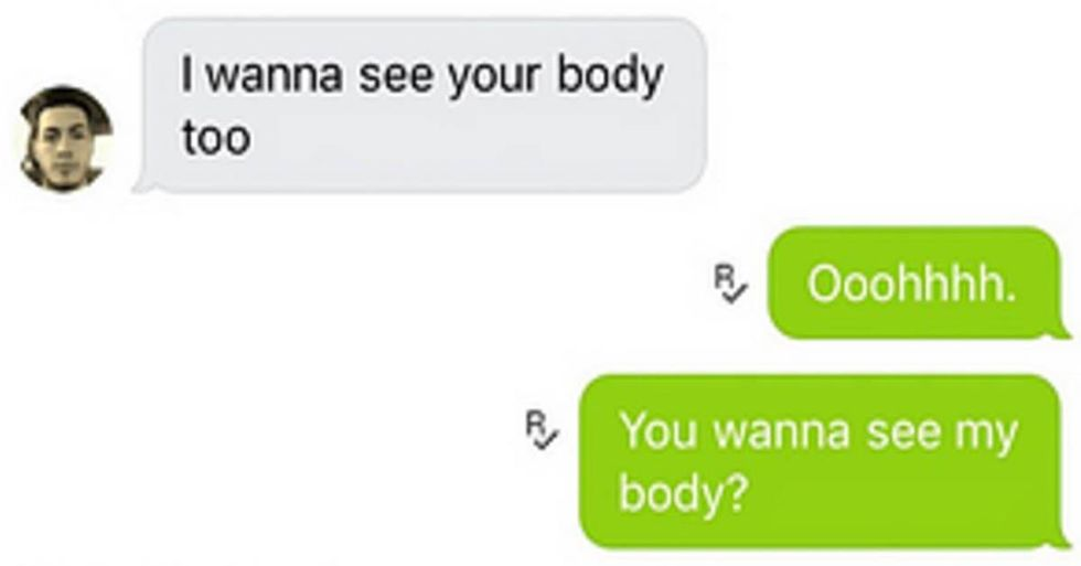 Girl Perfectly Trolls Pervy Guy Who Asked For Nude Pictures