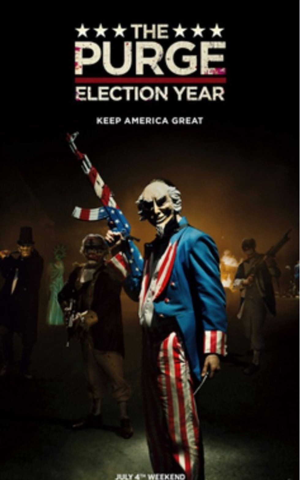Donald Trump's New Slogan Is The Same One From The Dystopian Film The Purge: Election Year