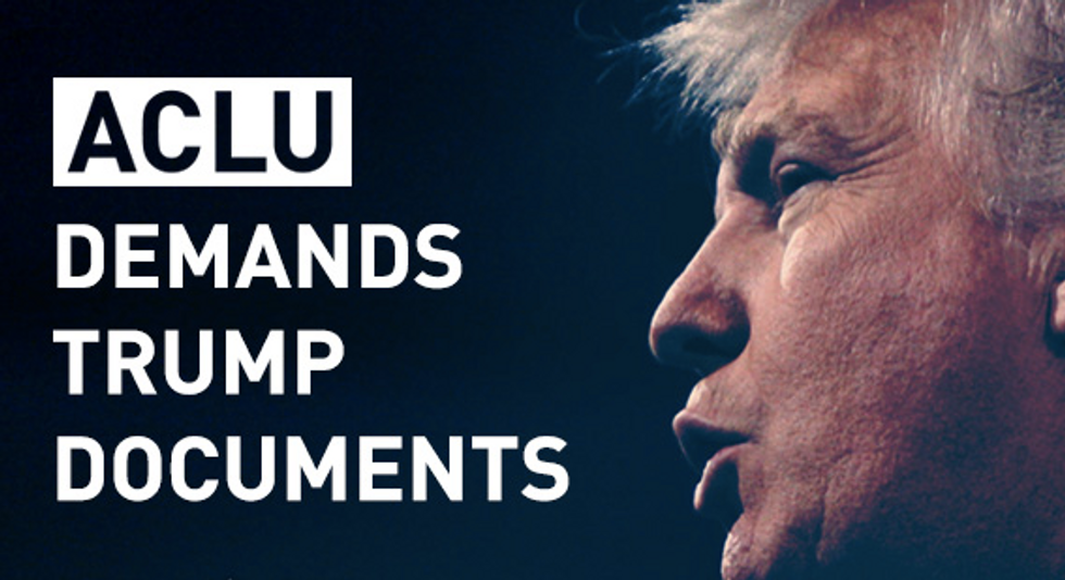 The ACLU Has Already Filed Its First Legal ActionAgainst President Donald Trump