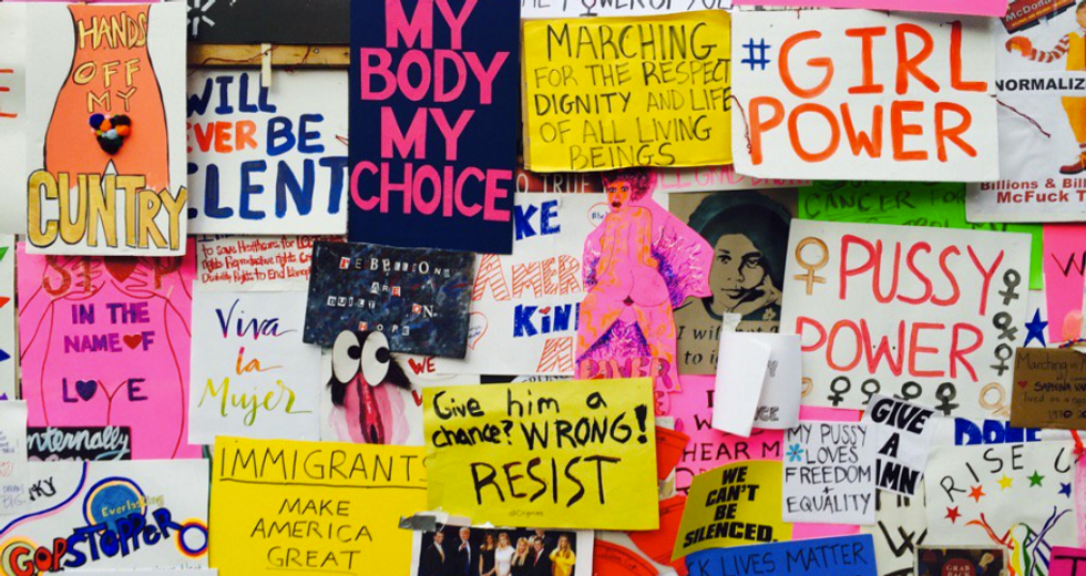 Women's March Protesters Created A Wall Of Their Own